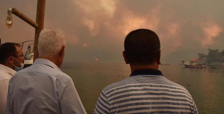 Başkan Gürün, Yangın Bölgelerinde
